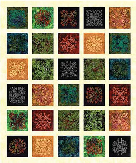 Quilt Using Volcano Bali Tiles