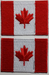 Canada Flag Patch 2/card