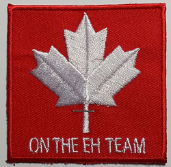 On the Eh Team Embroidery Patch