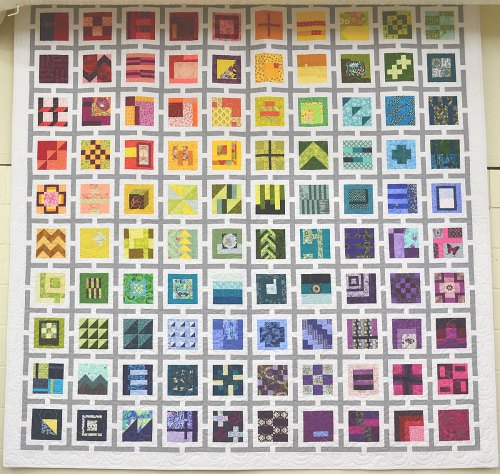 alt=Tula Pink's City Sampler 100 Modern Quilt Blocks""
