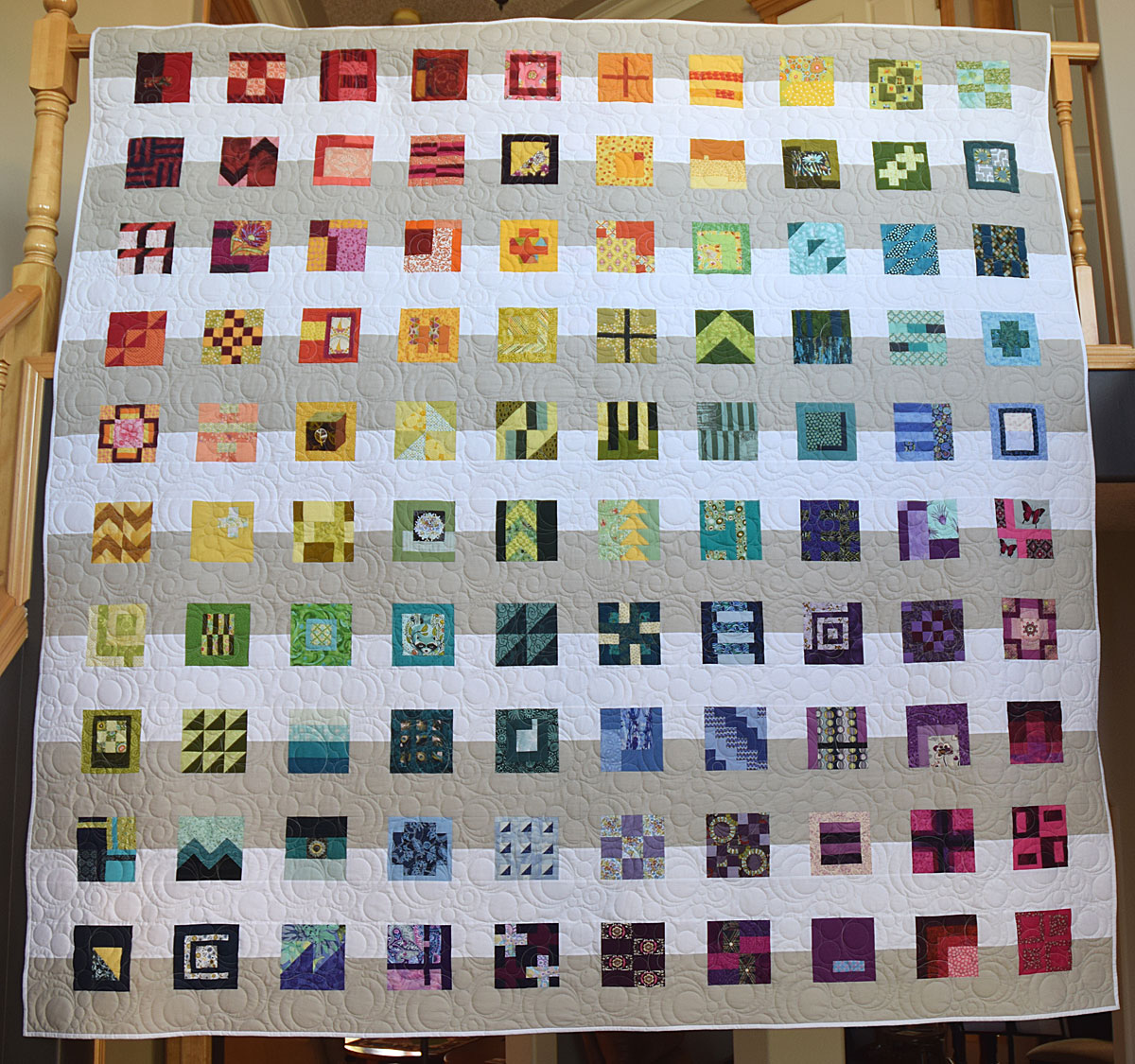 Another take on 100 modern quilt blocks tula pink s city for Modern house quilt block